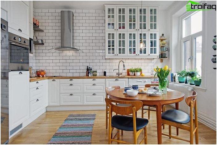 Hjørnekøkken i skandinavisk stil