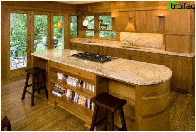 Bar counter - storage space
