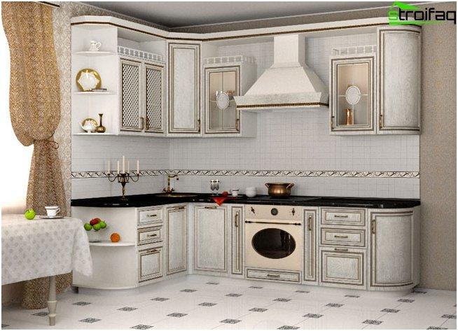 Hjørne køkken hvid