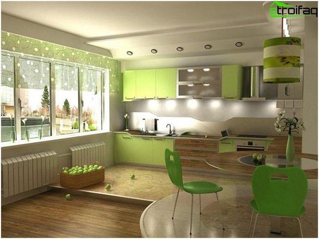 Hjørne køkken design