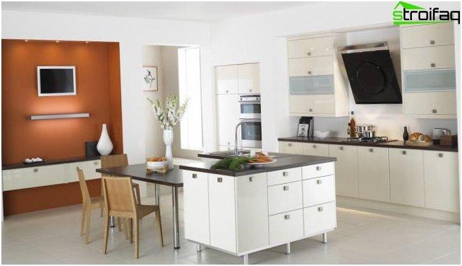 Foto af et moderne køkken design