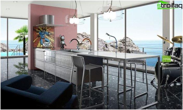 รูปภาพการออกแบบห้องครัวสไตล์ญี่ปุ่น