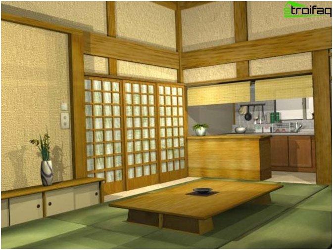 Japansk stil køkken design - Foto