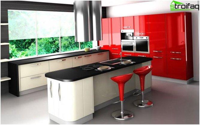 รูปภาพการออกแบบห้องครัวสไตล์ไฮเทค