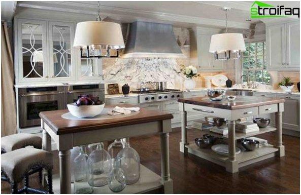 สไตล์โปรวองซ์ในการออกแบบห้องครัว 1