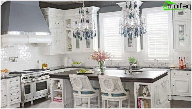 สไตล์โปรวองซ์ในการออกแบบห้องครัว 2