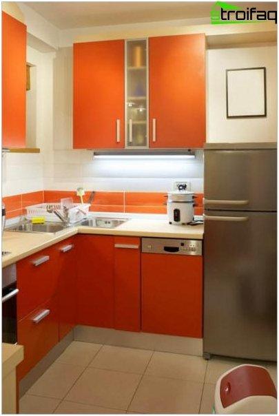 Lille køkken design