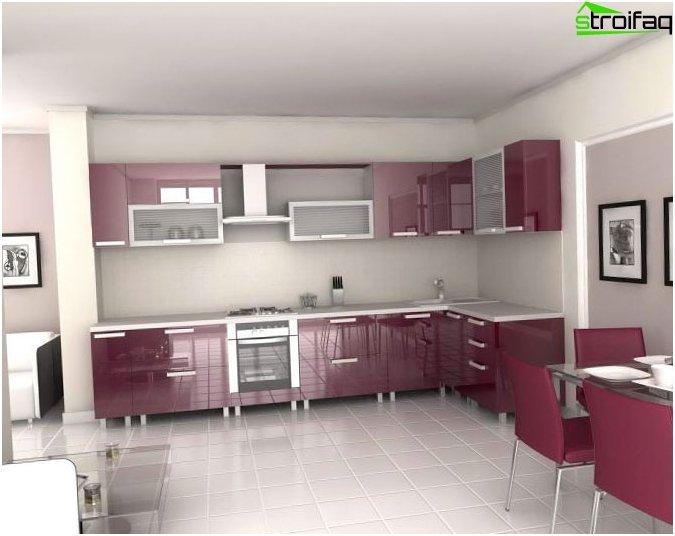 ห้องครัวมุม - การออกแบบ
