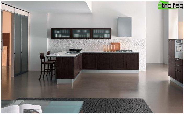 ห้องครัวมุม - ออกแบบ 1