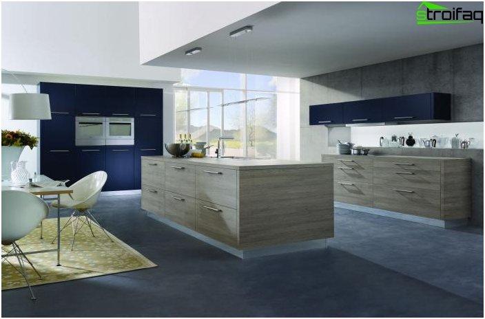 Design et køkken i et privat hus