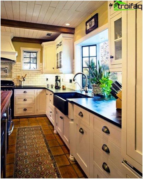 การออกแบบห้องครัว 10 ตารางเมตร ม.