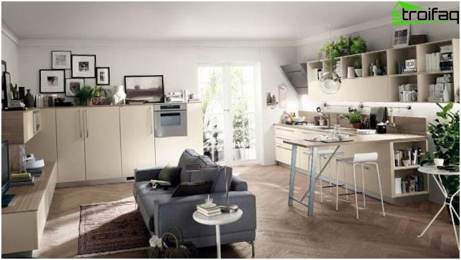 การออกแบบห้องครัว - ห้องนั่งเล่น 2