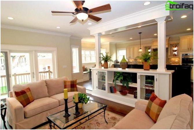 การออกแบบห้องครัว - ห้องนั่งเล่น 3