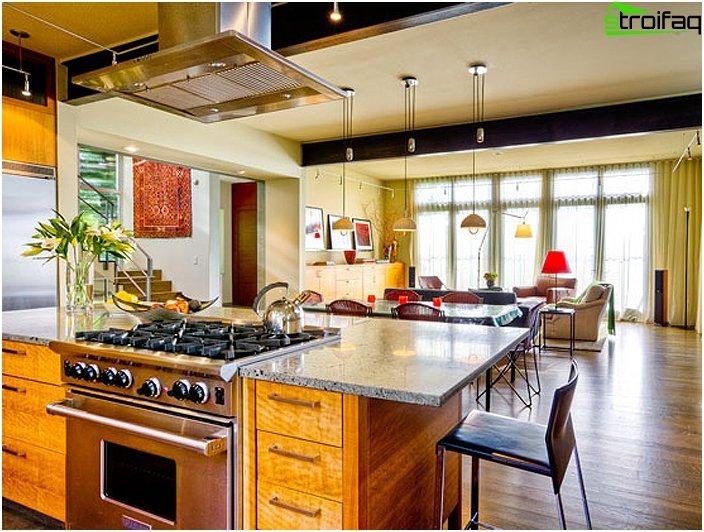 Kombineret køkken med stue 2