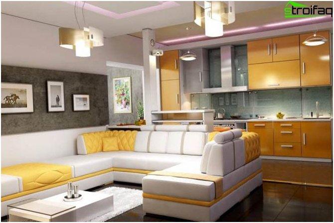 Kombineret køkken med stue 4