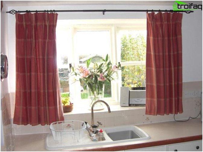 Design gardiner til køkkenet 1