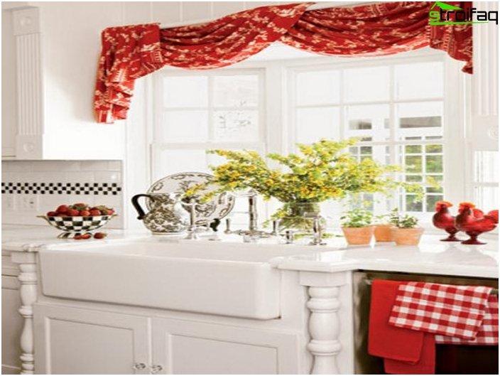 การออกแบบผ้าม่านสำหรับห้องครัว 2