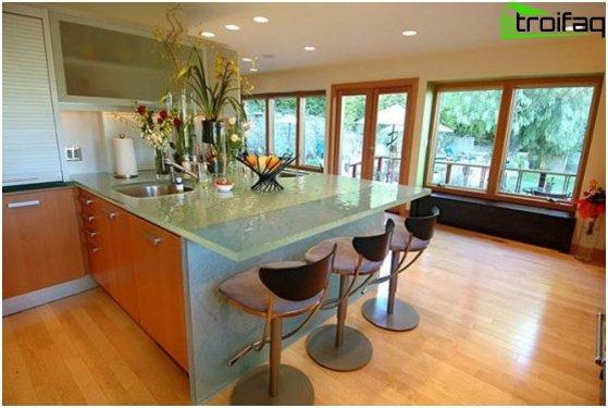 การออกแบบห้องครัว: วอลล์เปเปอร์ 1