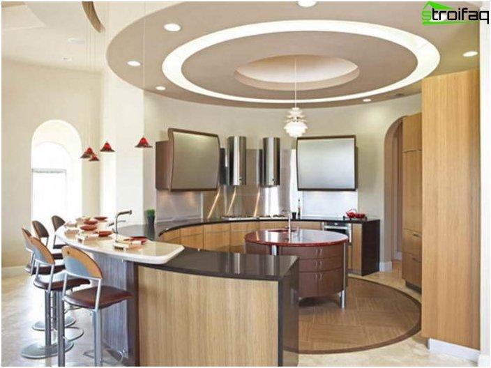 การออกแบบเพดานในห้องครัว 1