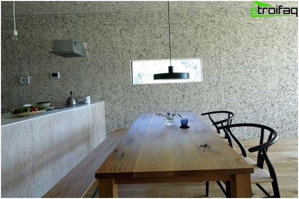 Taustakuva keittiössä minimalismin tyyliin
