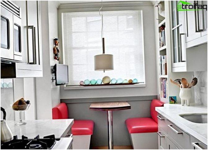 Suunnittelukuva pienestä keittiöstä