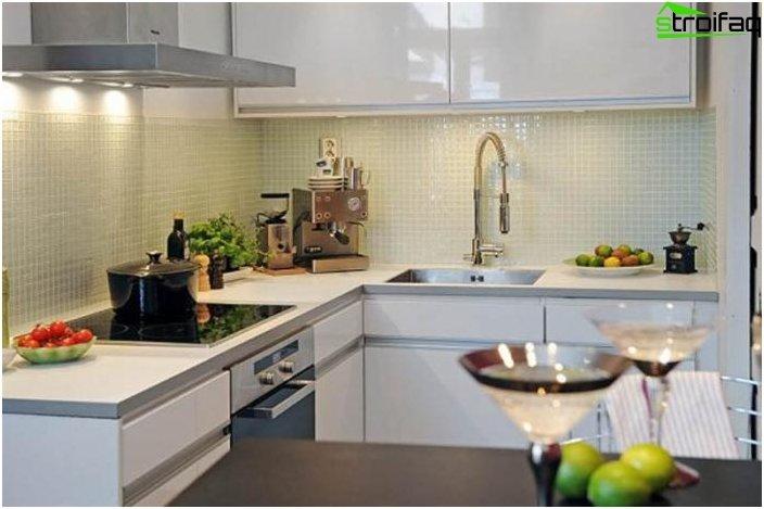 Cocina de diseño de 9 metros cuadrados 2