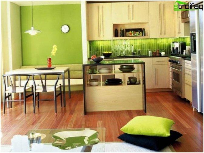 Vihreä taustakuva keittiöön
