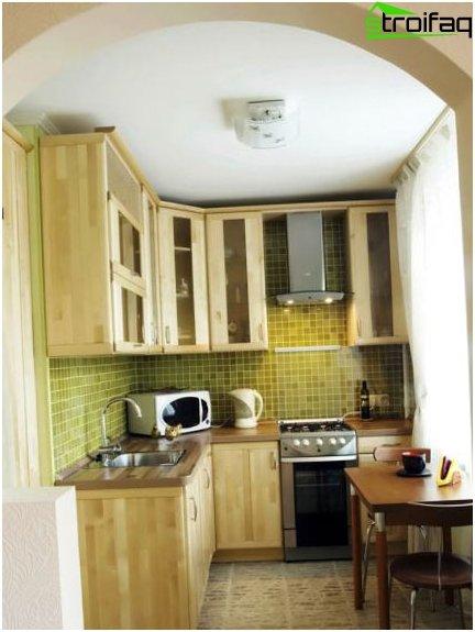 Pequeños azulejos en la cocina