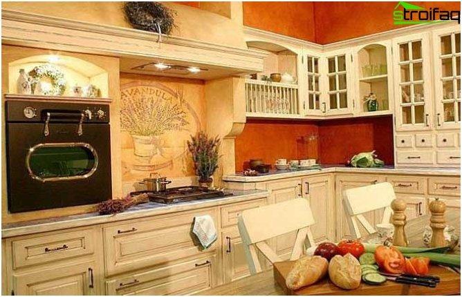 Oranssi taustakuva keittiöön