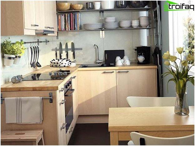 Disposizione di una piccola cucina 3