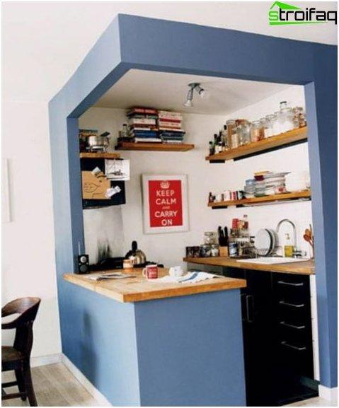 Espacio de cocina cercado