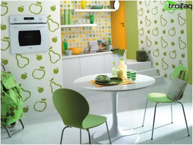 Wallpaper for the kitchen (155 photos of ideas)