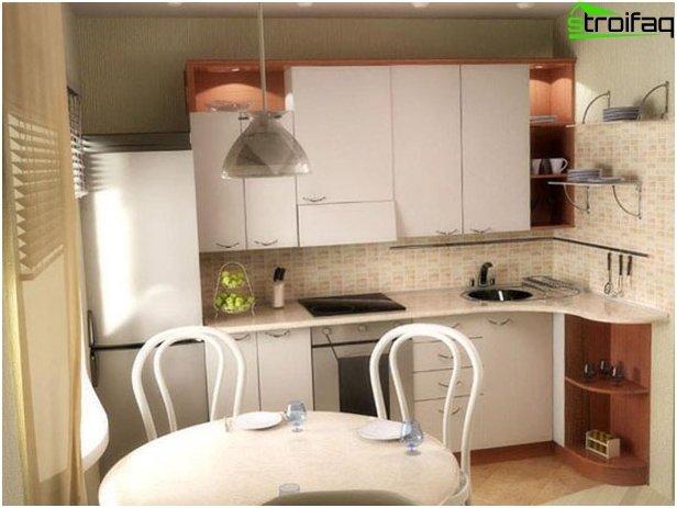 Pienen keittiön järjestely 4