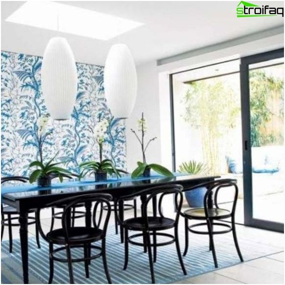 Fashionable wallpaper for the kitchen 2016