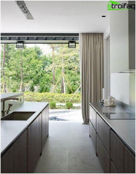 Piccola cucina in una casa privata