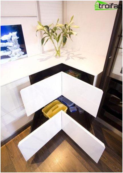 Le sfumature del design della cucina ad angolo 1