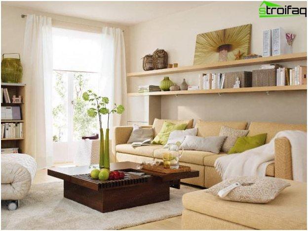 Foto af design af køkken-stuen