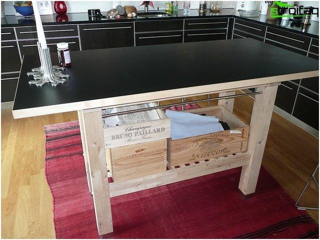 Pienen keittiön huonekalut 1