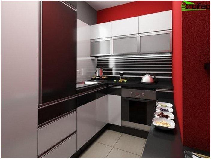 Pienen keittiön huonekalut 2