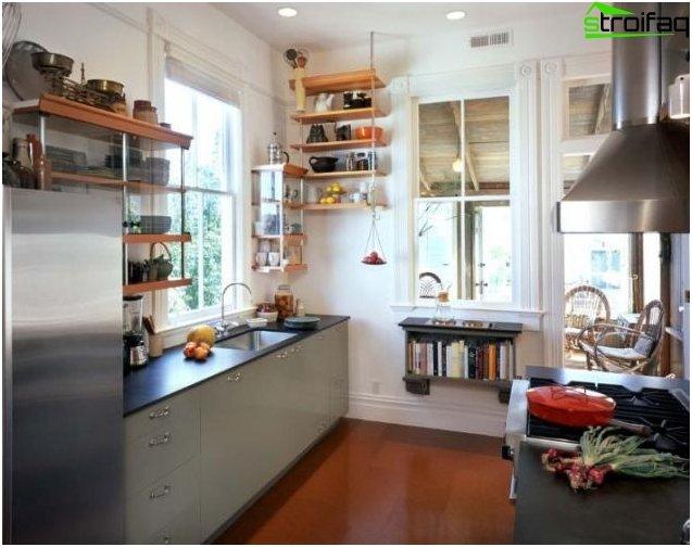 Kitchen layout 10 sq m