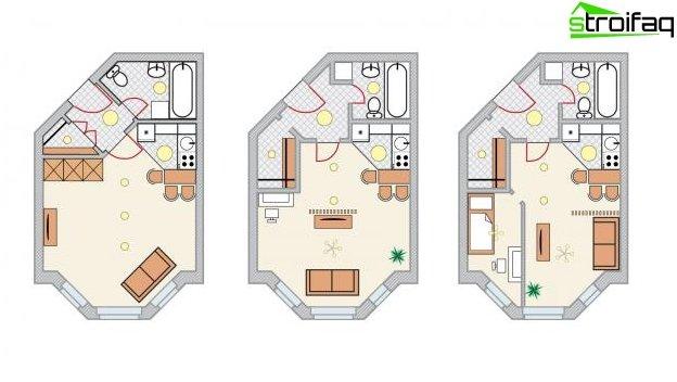 Снимка на дизайна на кухнята-хол