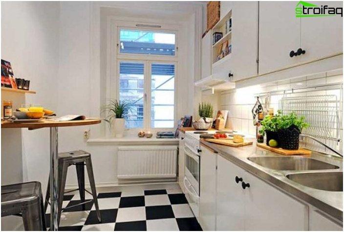 التصرف في المطبخ 10 متر مربع