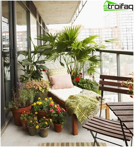 Beautiful garden on the balcony