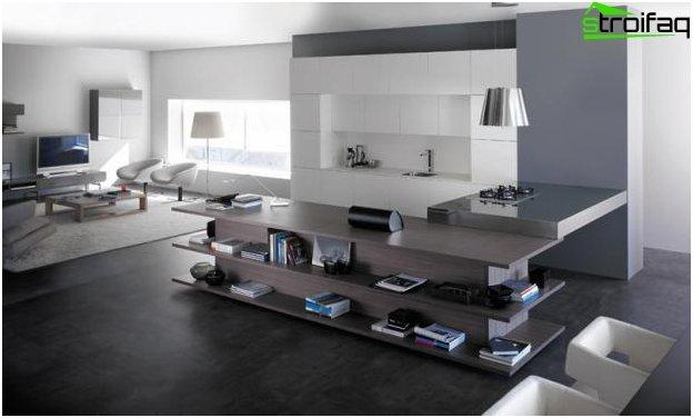 Diseño de cocina-sala de estar - 9