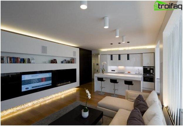 Diseño de cocina-sala de estar - 11