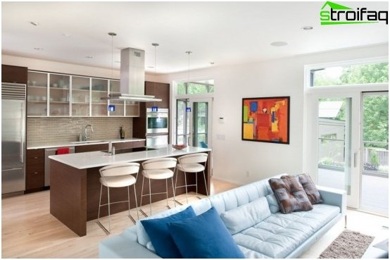 Diseño de cocina-sala de estar - 12