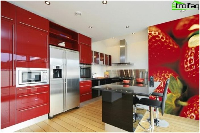 Suunnittelu taustakuva keittiöön 2