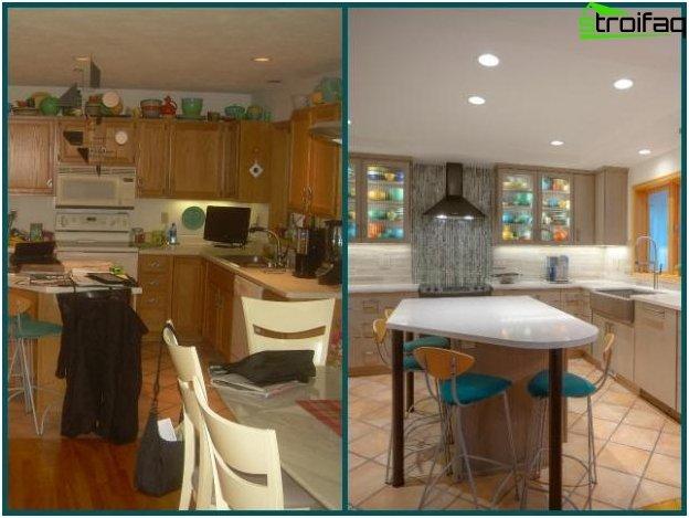 Diseño de cocina-sala de estar - 13