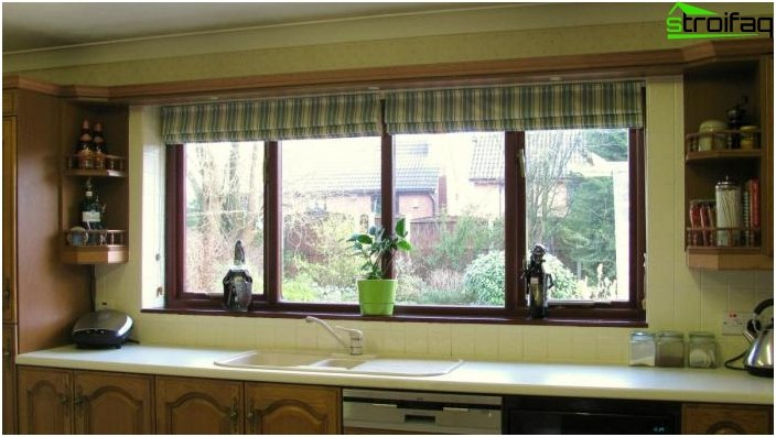 Roller blinds in the interior of the kitchen - photo 2
