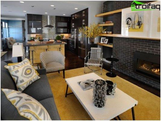 Diseño de cocina-sala de estar - 14